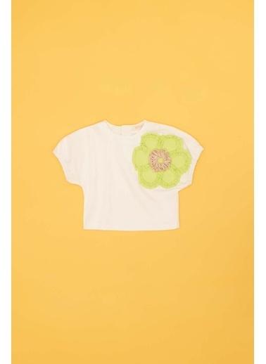 BG Baby Kız Bebek Beyaz Bluz Beyaz